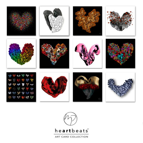 Art cards heartbeats Michel Poort